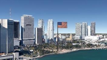 flag over Miami